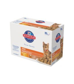 Science Plan Feline Adult Optimal Care Maaltijdzakjes Multipack Gevogelte