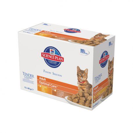 Science Plan Feline Adult Maaltijdzakjes Multipack Gevogelte