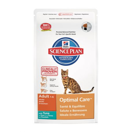Science Plan Feline Adult Optimal Care Tonijn