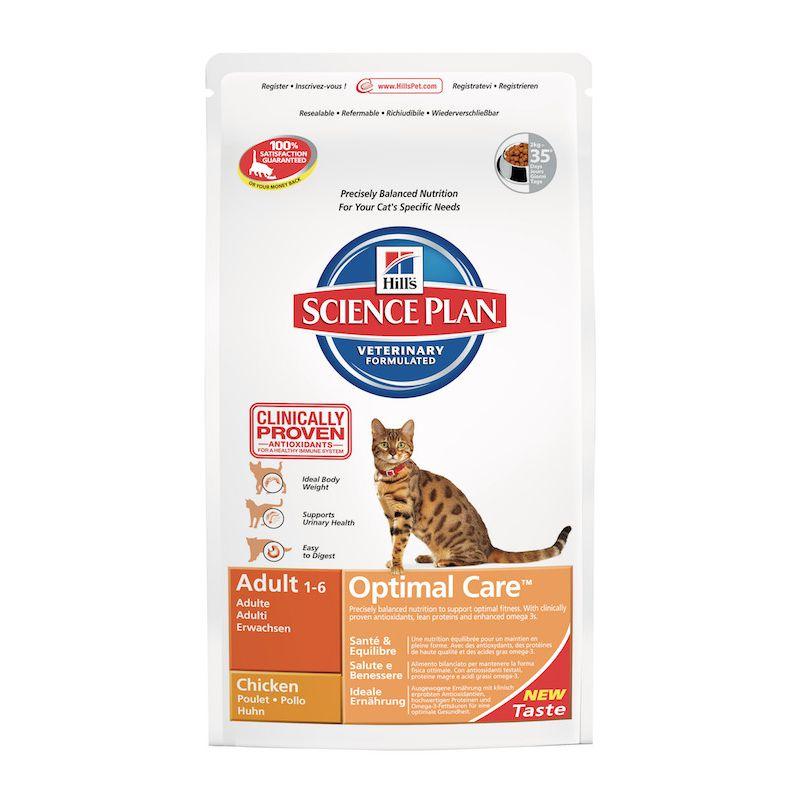 science plan feline adult optimal care kip droogvoer voor volwassen katten. Black Bedroom Furniture Sets. Home Design Ideas