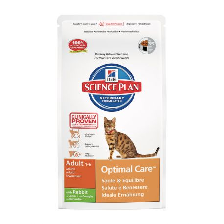 Science Plan Feline Adult Optimal Care Konijn