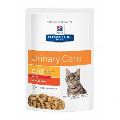 Prescription Diet c/d Feline Urinary Stress Reduced Calorie - Maaltijdzakjes