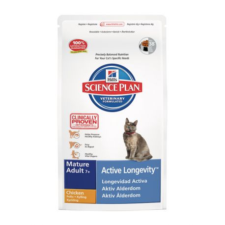 Science Plan Feline Mature Adult 7+ Active Longevity Kip