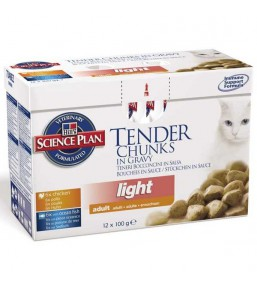 Science Plan Feline Adult Light Maaltijdzakjes Classic Selection Multipack